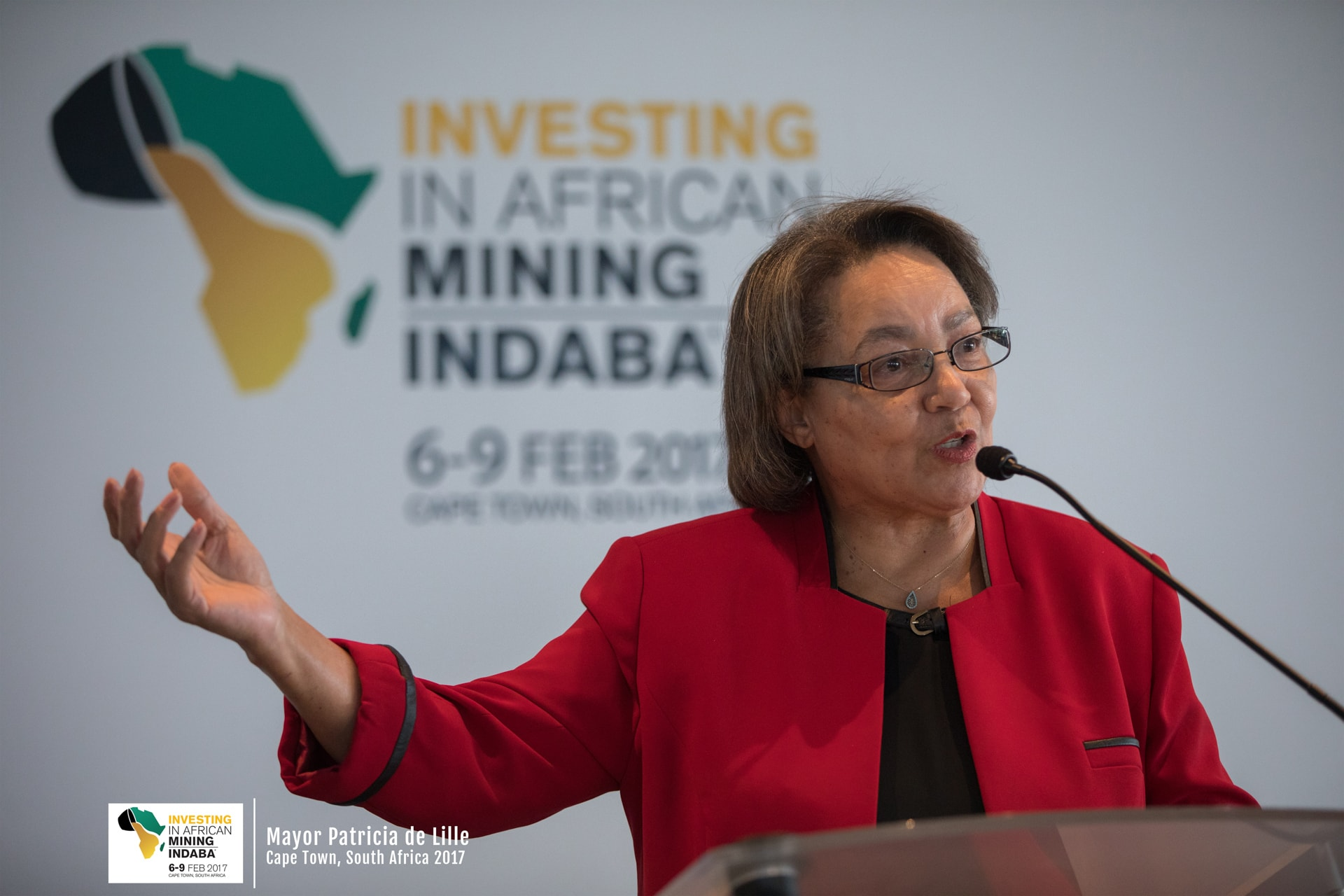 Mayor Patricia de Lille at Mining Indaba Event