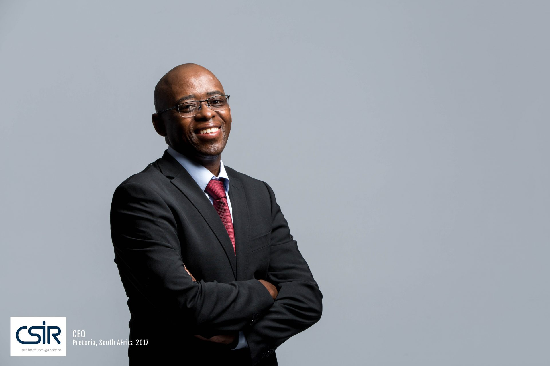 Portrait of CEO CSIR - Black man with glasses